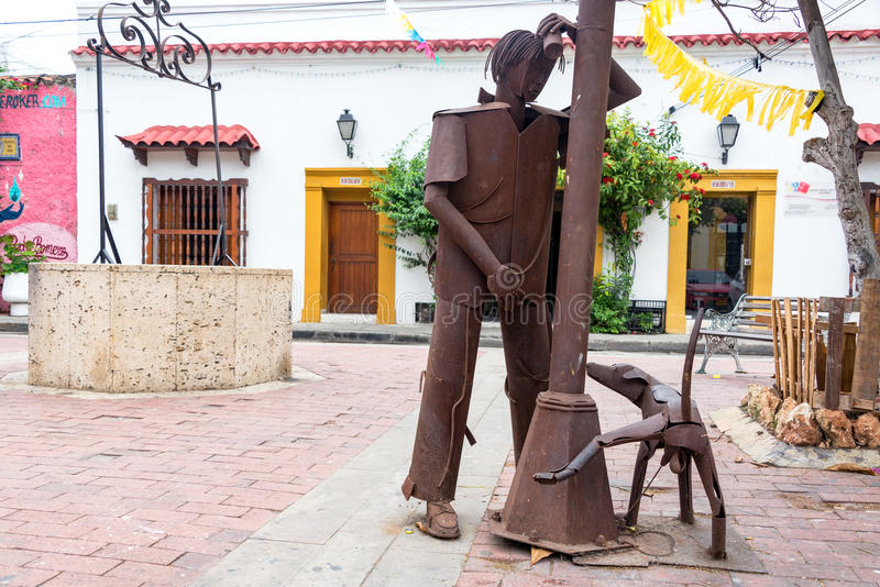 Urinating Statues in Cartagena royalty free stock photo