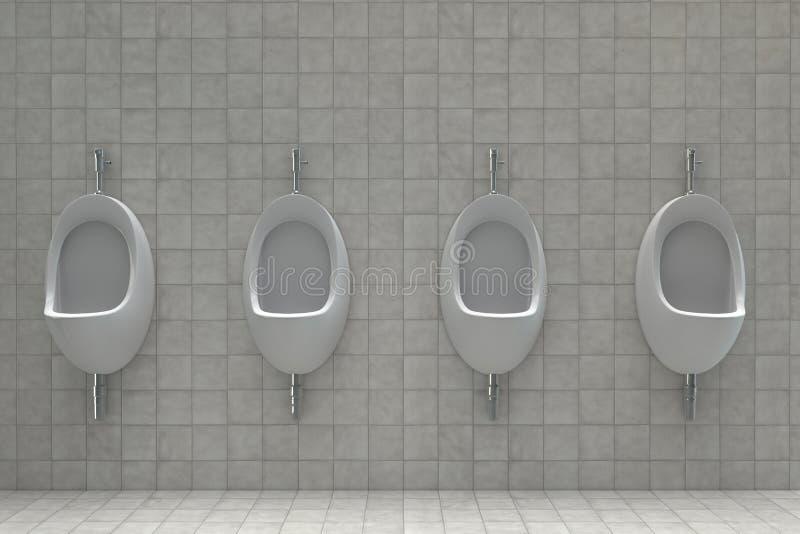 Urinaux dans des toilettes publiques illustration libre de droits