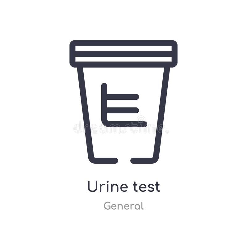 Urine test outline icon. isolated line vector illustration from general collection. editable thin stroke urine test icon on white. Background vector illustration