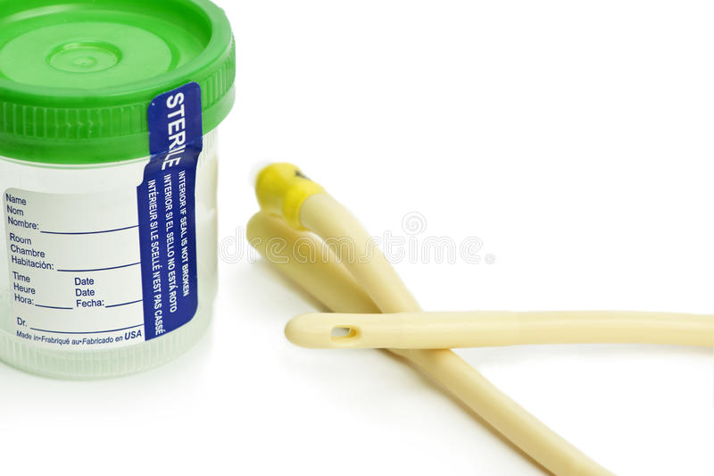 Urinesteekproef stock afbeelding