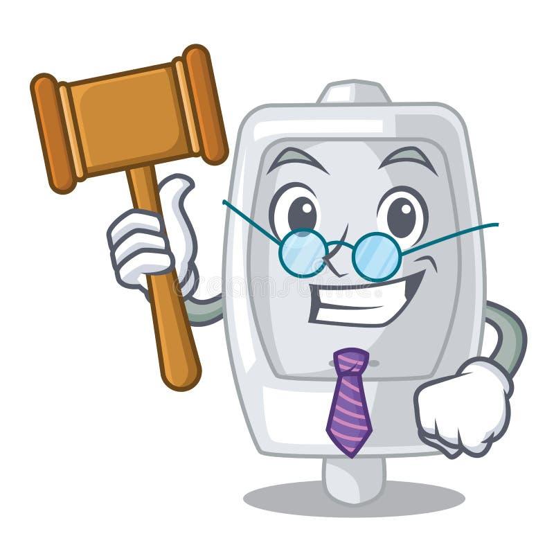 Urinoir intérieur de juge dans le caractère d'a illustration de vecteur