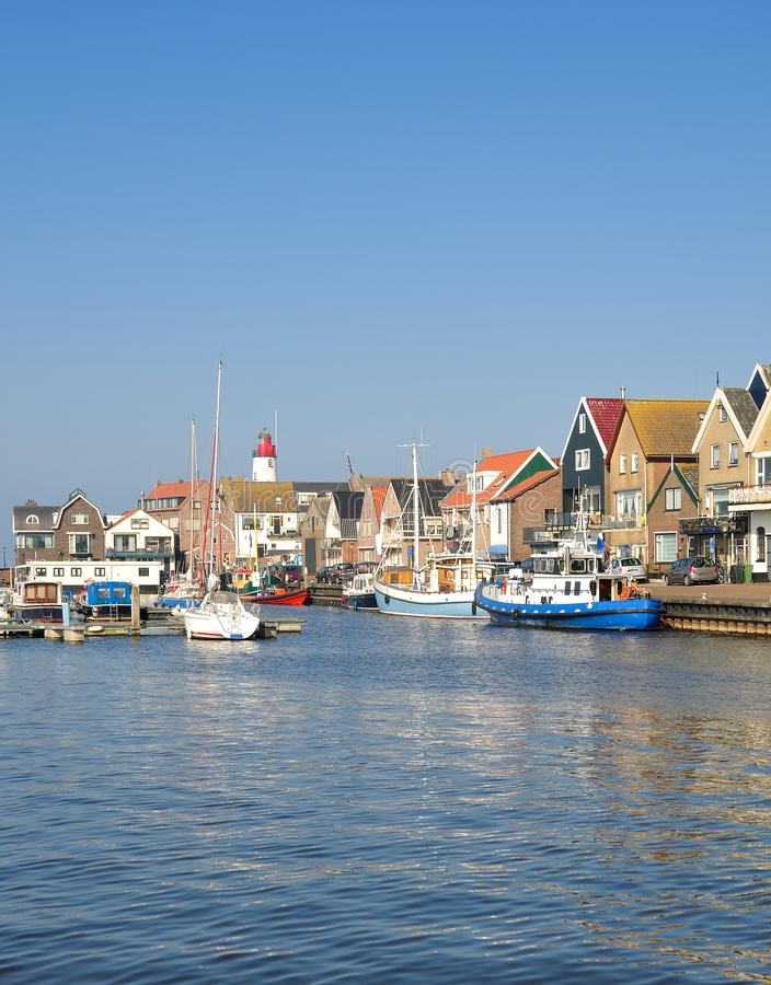 Urk,Ijsselmeer,Flevoland Province,Netherlands. Village of Urk at Ijsselmeer in Flevoland Province,Netherlands royalty free stock photo