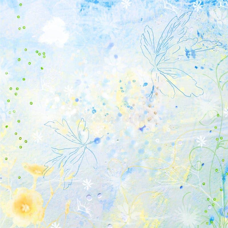Urklippsbokbakgrundsvattenfärg arkivfoton
