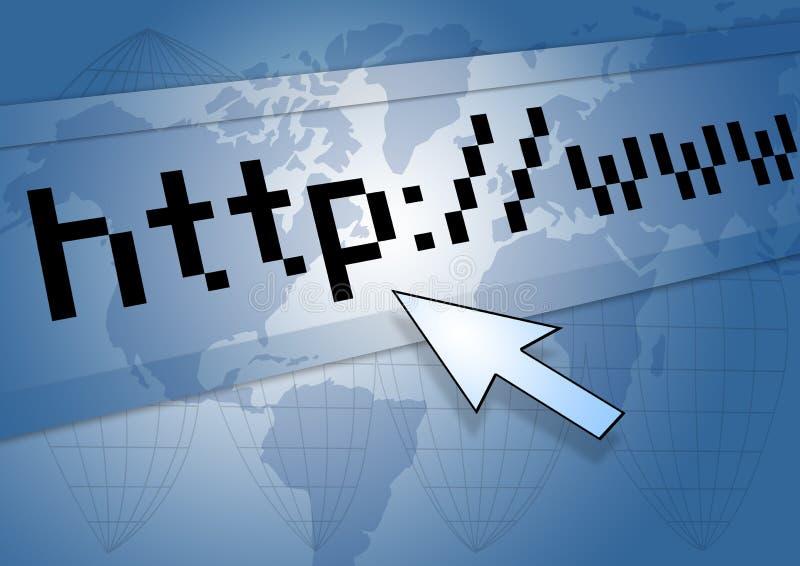 URL de HTTP illustration libre de droits