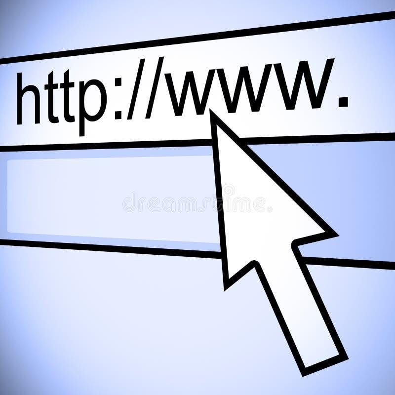 URL del web browser stock de ilustración