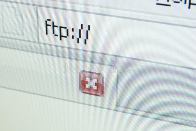 URL - FTP fotografia stock libera da diritti