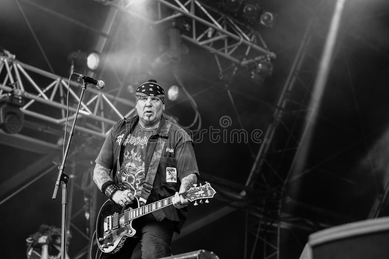 Urladda i Hellfest 2016, royaltyfria bilder