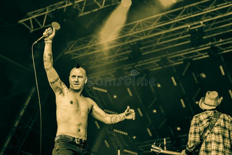 Urladda i Hellfest 2016, royaltyfri bild