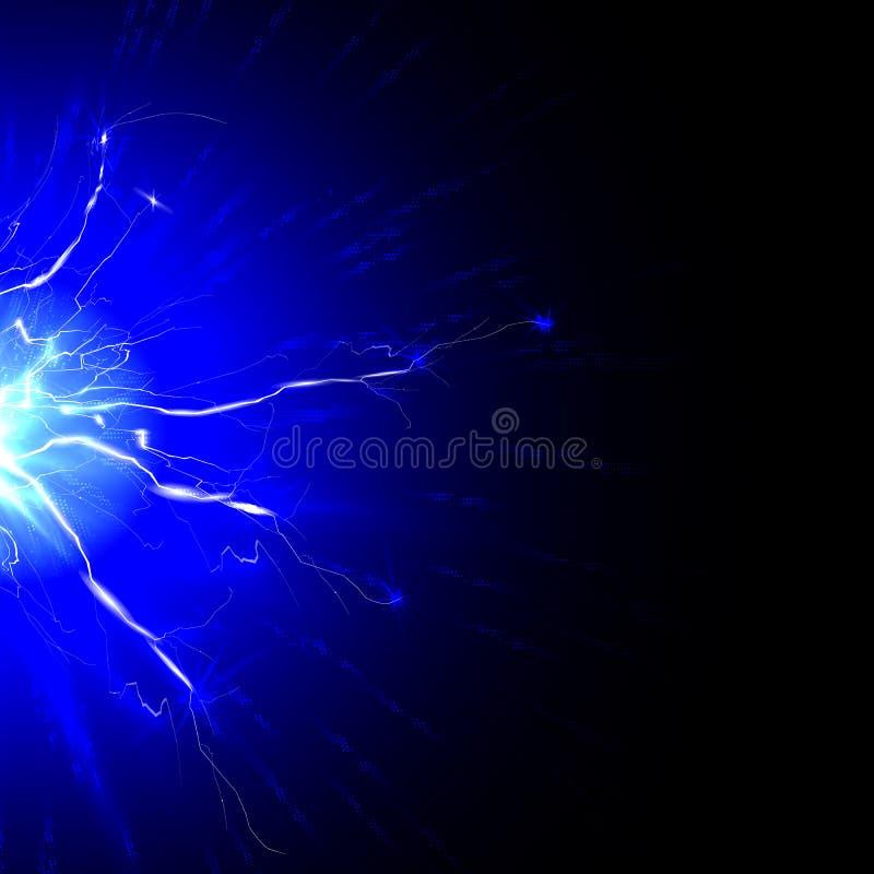 Urladdningen av elektricitet från blixten royaltyfri illustrationer
