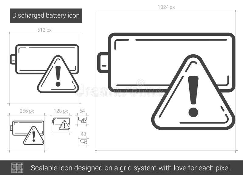 Urladdningsbatterilinje symbol royaltyfri illustrationer