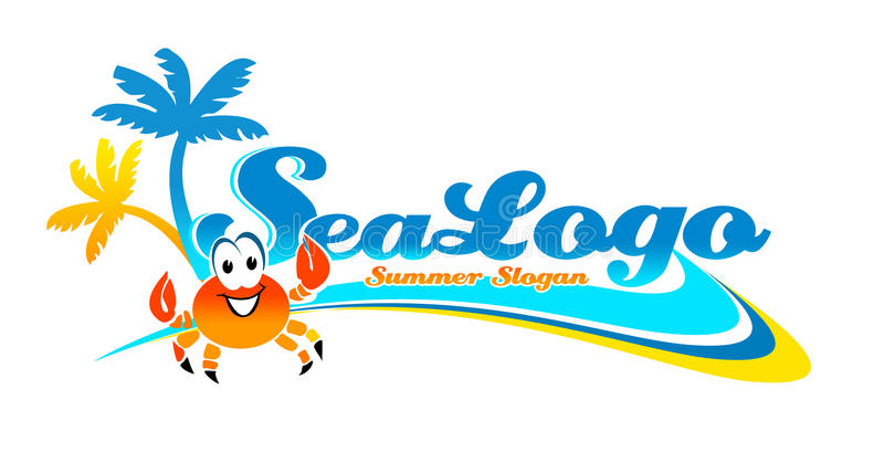 Urlaubsreise-Logo Lizenzfreie Stockfotografie