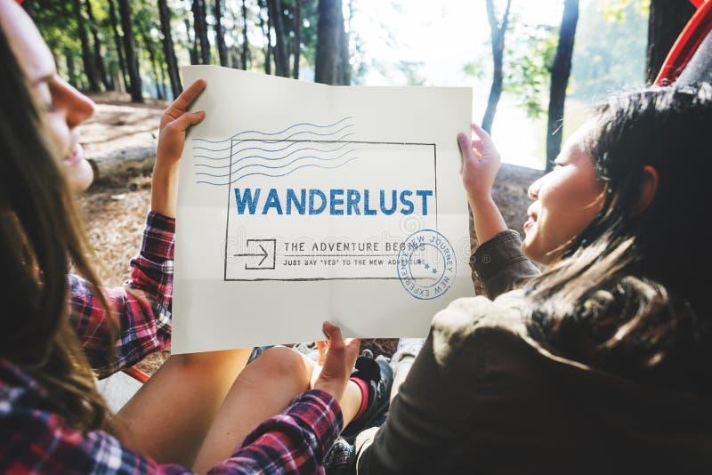 Urlaubsreise-Reise-Wanderlust-Ferien-Konzept lizenzfreies stockfoto