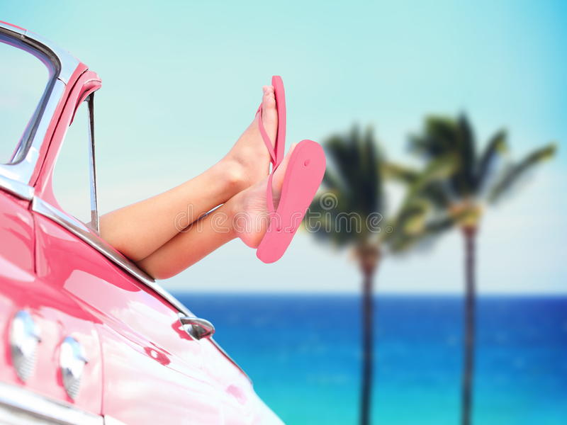 Urlaubsreisefreiheits-Strandkonzept stockfotografie
