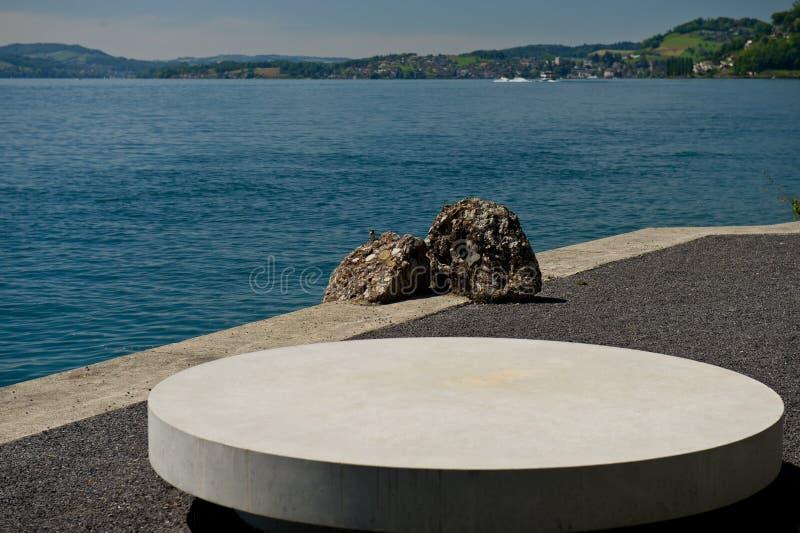 Urlopowy punkt przy jeziorem obraz stock