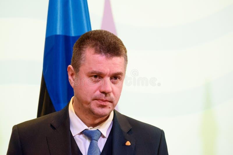 Urmas Reinsalu, ministro degli affari esteri dell'Estonia fotografia stock libera da diritti