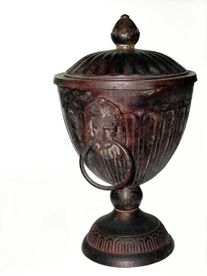 Urn envelhecido do ferro de molde imagens de stock royalty free