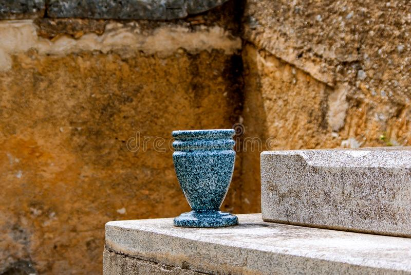 Urn on grave royalty free stock photo