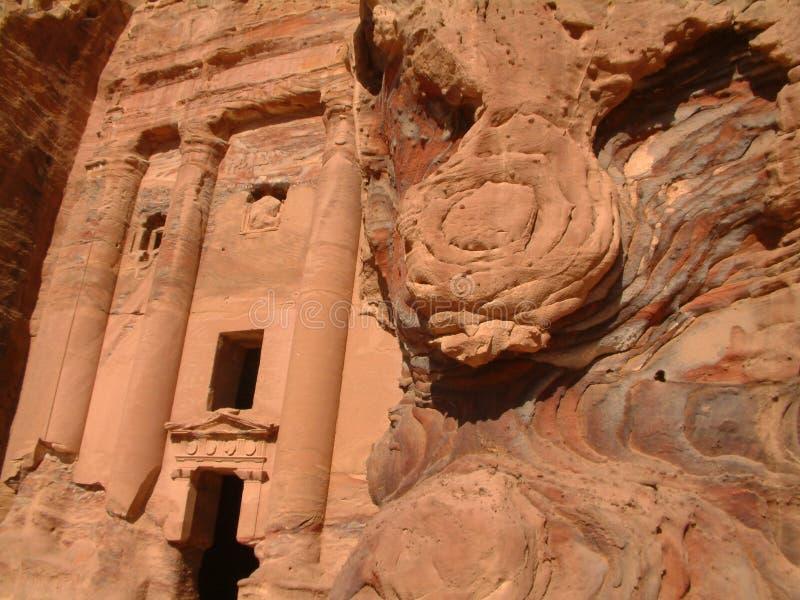The Urn Tomb, Petra, Jordan stock image