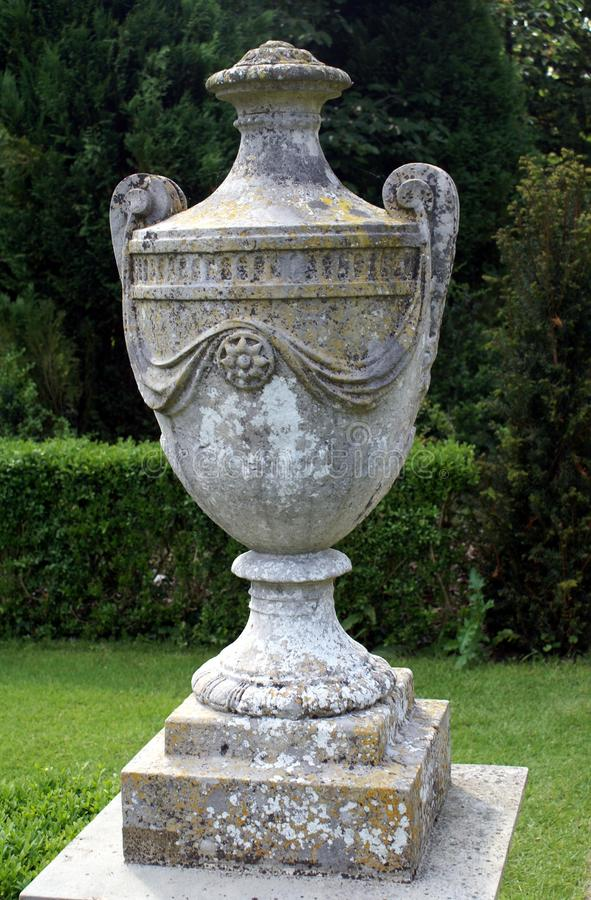 Urn. vase. garden ornament. Garden decoration of an urn or a vase royalty free stock photography