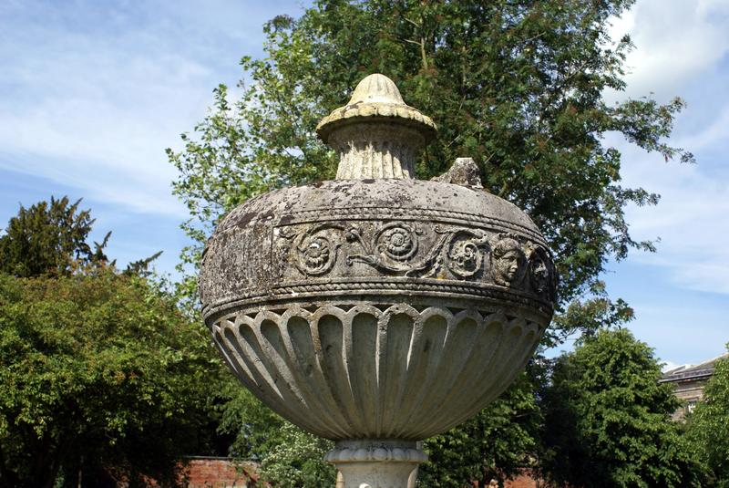 Urn. vase. garden ornament. Garden decoration of an urn or a vase royalty free stock images