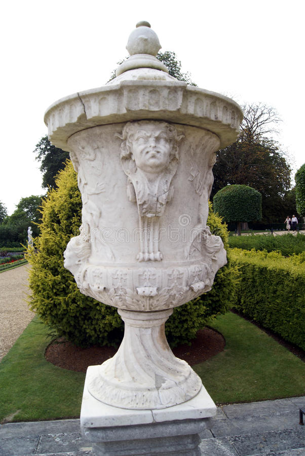Urn. vase. garden ornament. Garden decoration of an urn or vase royalty free stock image