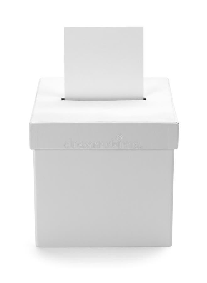 Urna blanca imagen de archivo libre de regalías
