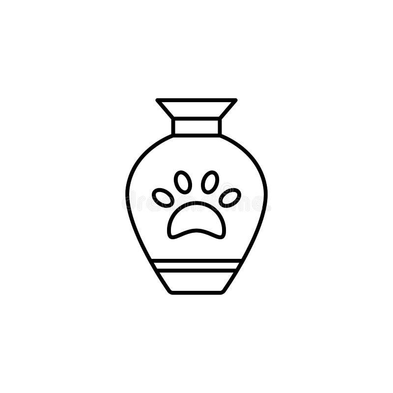 urna dödöversiktssymbol detaljerad uppsättning av dödillustrationsymboler Kan anv?ndas f?r reng?ringsduken, logoen, den mobila ap vektor illustrationer