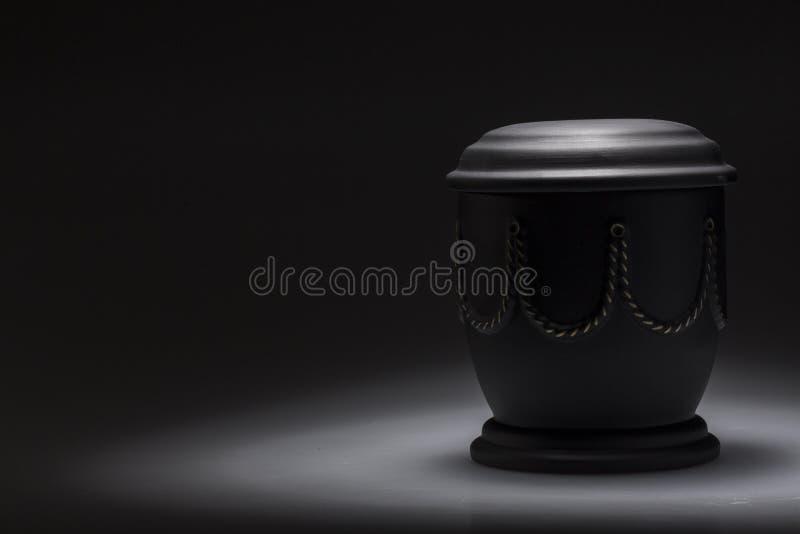 Urna de lamentação fúnebre, para a necrologia imagens de stock royalty free