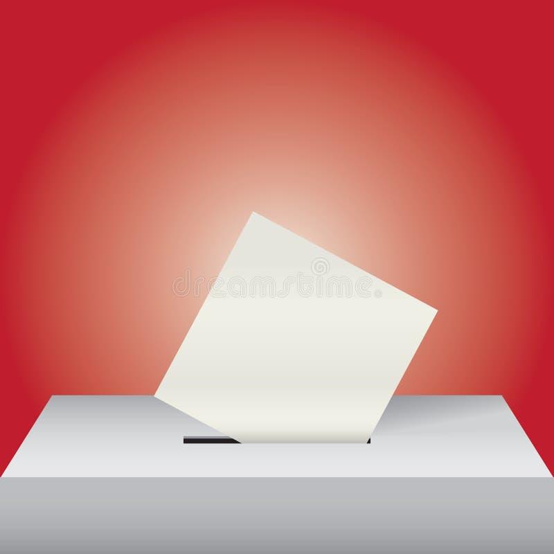 Urna de voto com formulário ilustração royalty free
