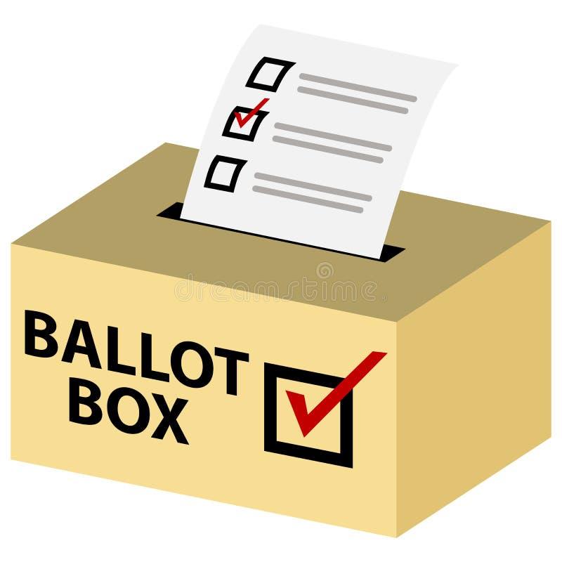 urna de voto 3d ilustração royalty free
