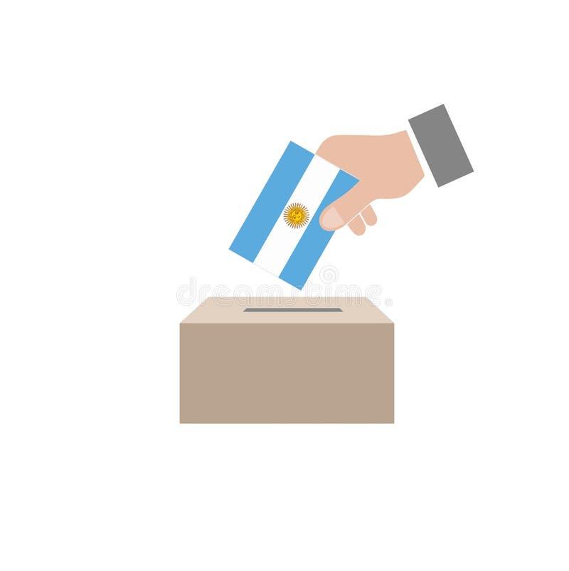 Urna de voto das eleições de Argentina ilustração royalty free