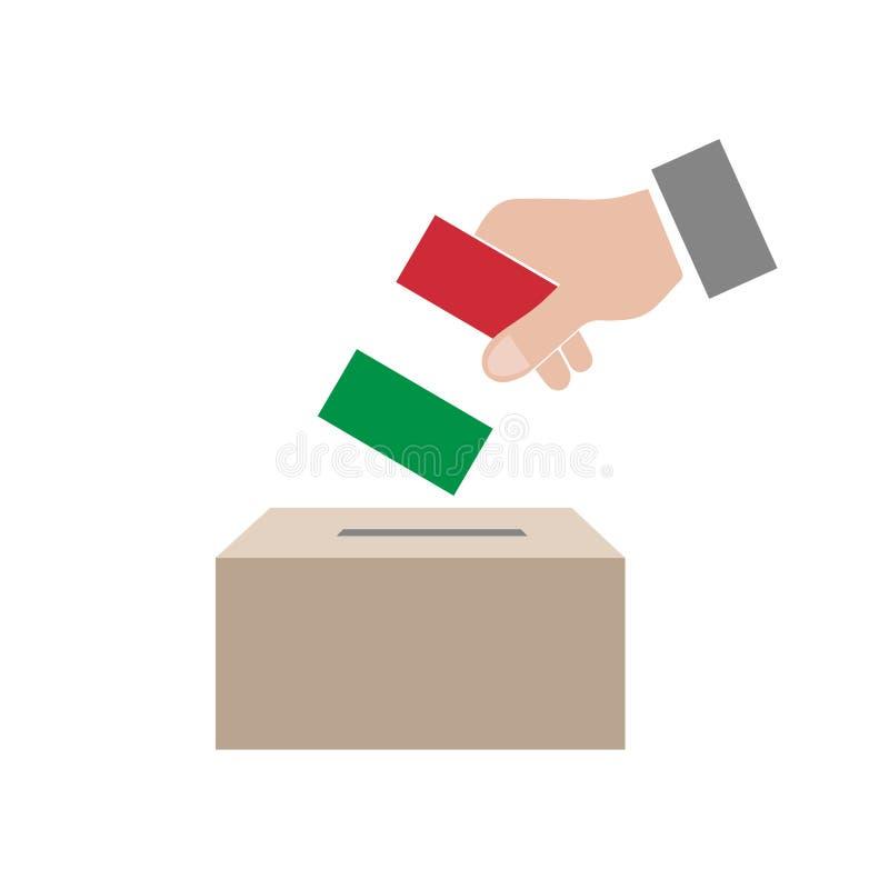 Urna de voto das eleições de Itália ilustração stock