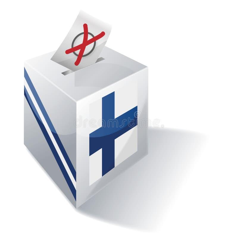 Urna de voto de Finlandia ilustração stock