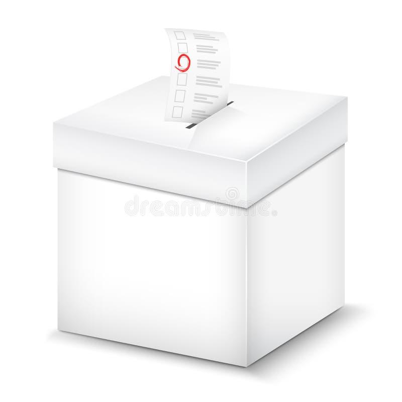 Urna de voto no branco. ilustração do vetor