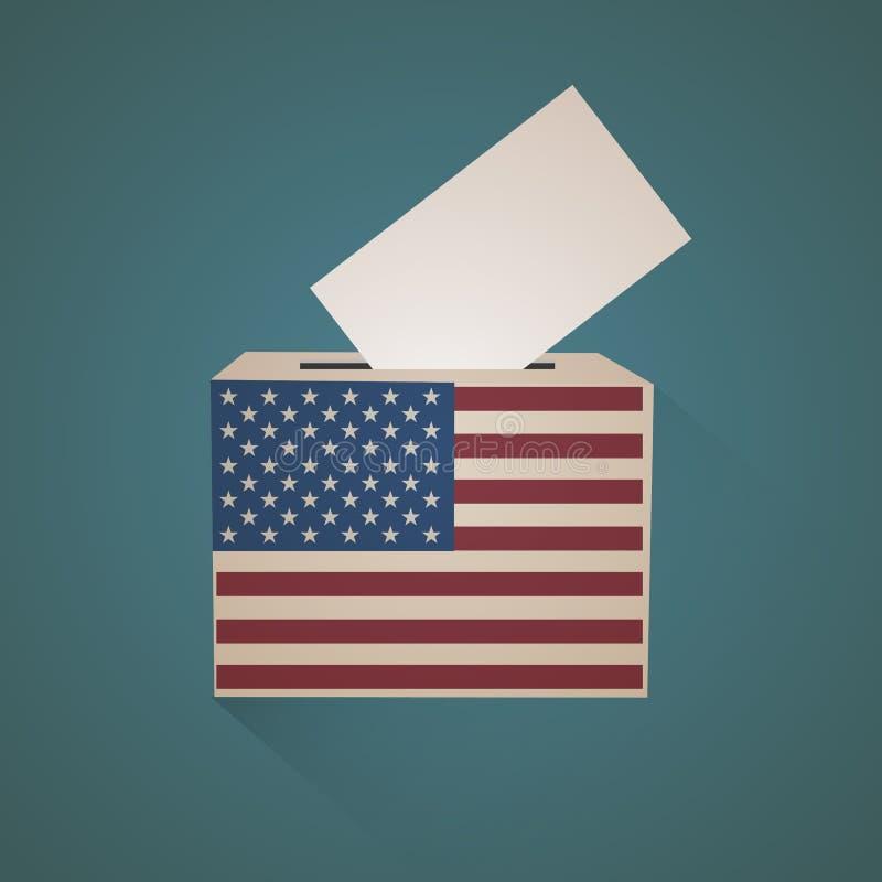 Urna di U.S.A. di voto illustrazione vettoriale