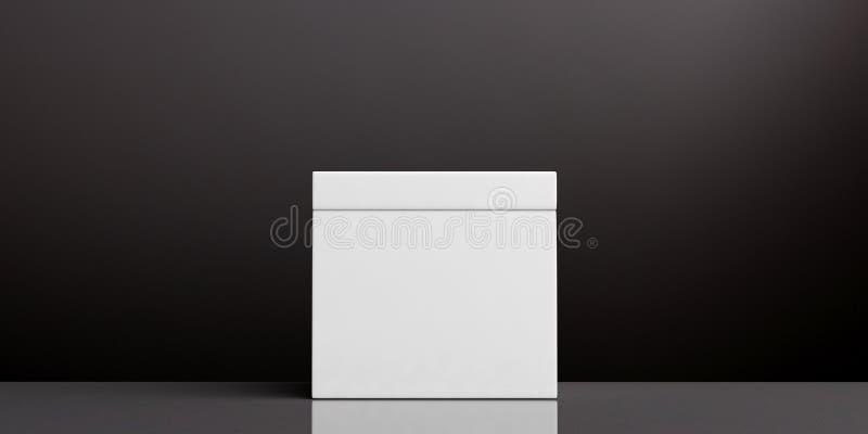 Urna en blanco blanca en el fondo negro, espacio de la copia ilustración 3D libre illustration