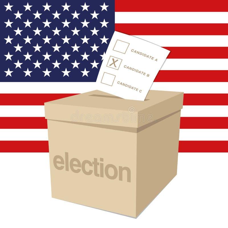 Urna para una elección de los E.E.U.U. stock de ilustración