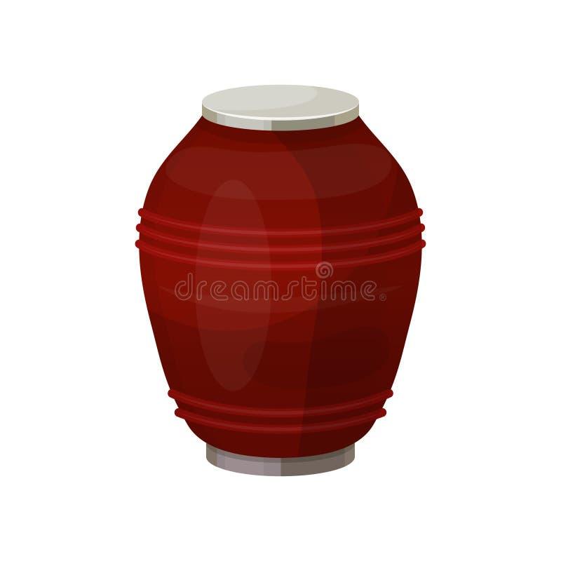 Urna per polvere, icona del vaso di cerimonia di cremazione royalty illustrazione gratis
