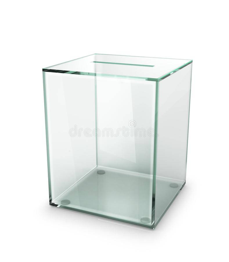 Urna transparente de cristal imagen de archivo