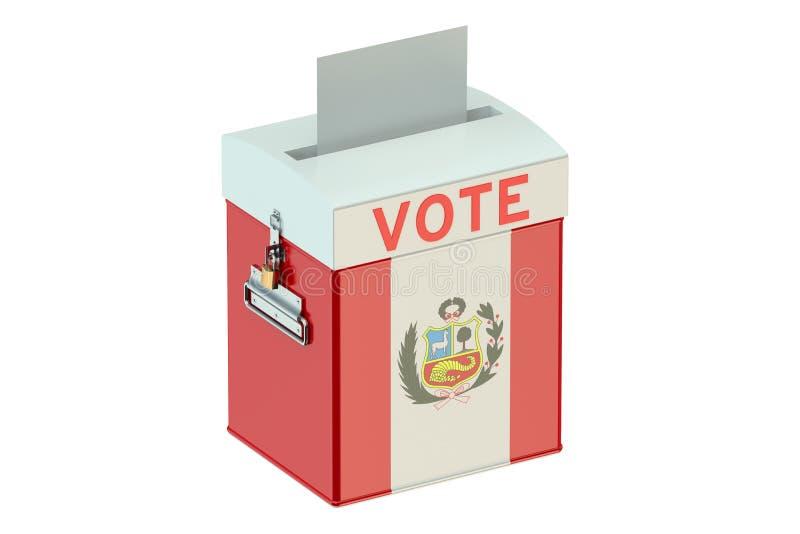 Urne avec le drapeau du Pérou illustration stock