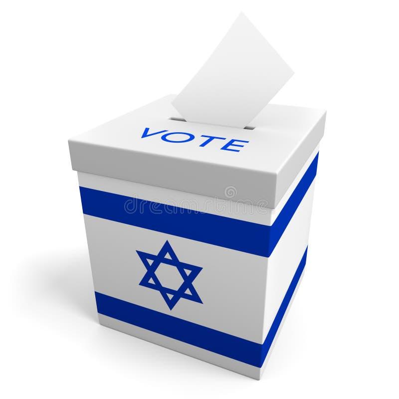 Urne d'élection de l'Israël pour rassembler des votes illustration de vecteur