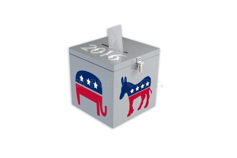 Urne d'élection présidentielle des 2016 Etats-Unis photo stock