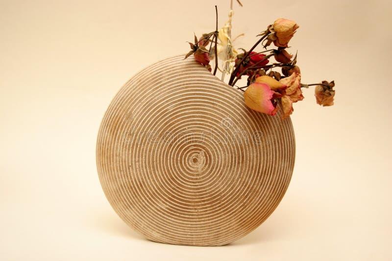 Urne en bois photographie stock