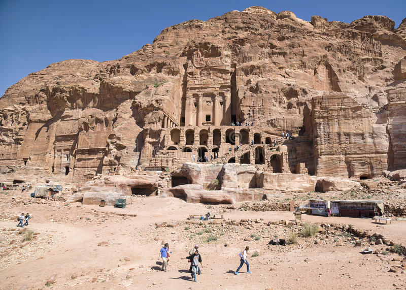 Urngraf, Petra, Jordanië royalty-vrije stock foto