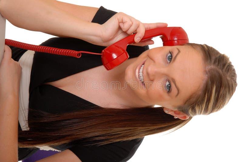 urocza 15 telefoniczna kobieta zdjęcia stock