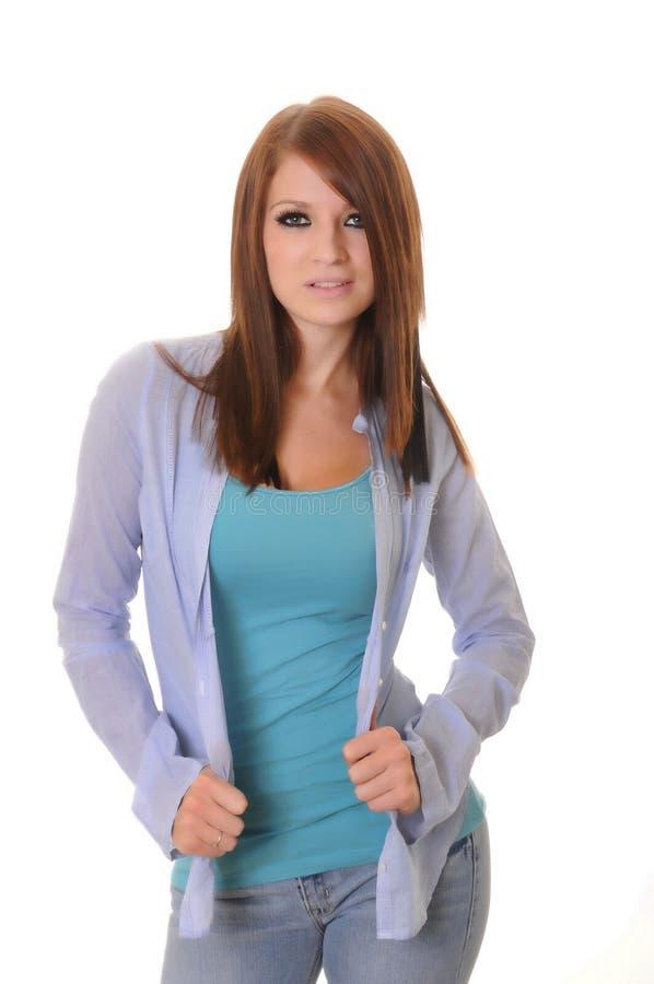 urocza brunetki dziewczyna obrazy stock