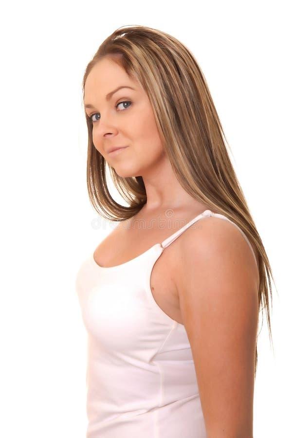urocza brunetki dziewczyna zdjęcie stock
