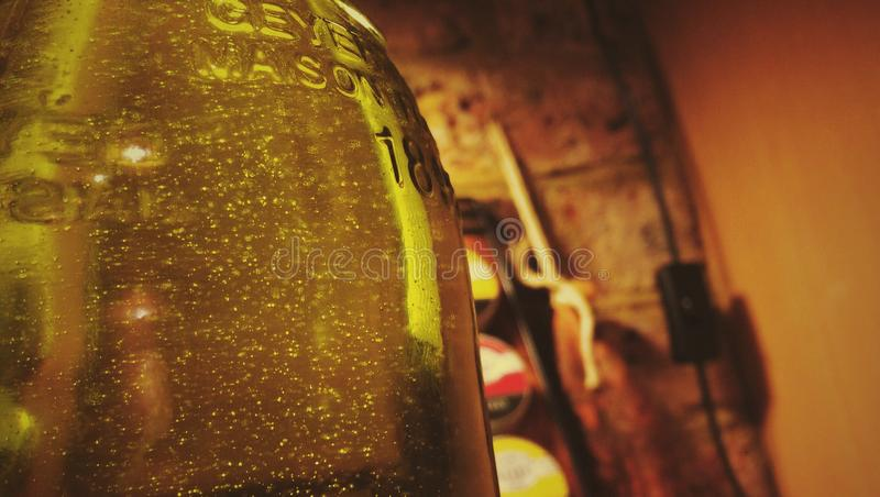 Urocza butelka obraz royalty free