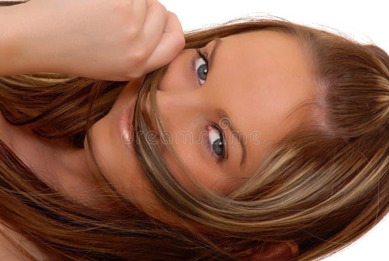 urocza dziewczyna brunetki obrazy royalty free