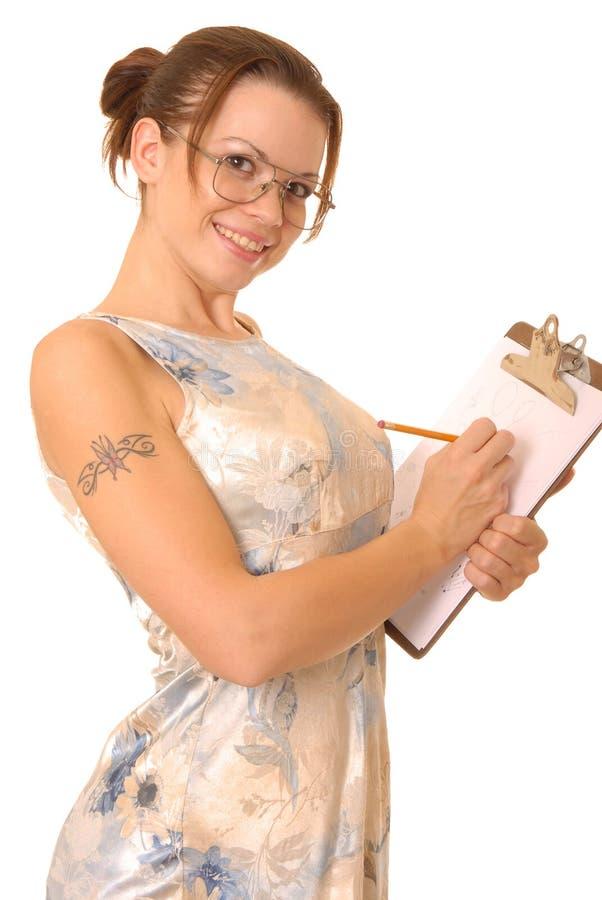 urocza dziewczyna notatnik zdjęcie stock